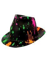 Plastic Splatter Fedora Hat