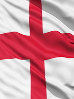 England Flag 8ft x 5ft  With Eyelets For Hanging