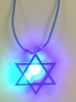 Star of David Flashing Necklace