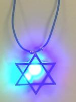 Star of David Flashing Necklace