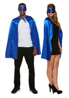 Super Hero Cape and Mask Set - Blue