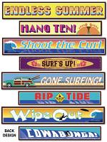 Surfer Street Sign Cardboard Cutouts