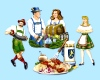 German/Germany Oktoberfest Cutouts Printed On Both Sides 40.64 cm (4 in a pack)