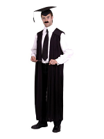 Teachers Black Gown with Hat and Cane (12345)
