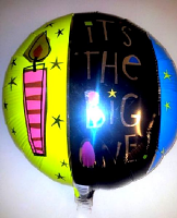 Foil Balloon THE BIG ONE Birthday