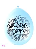 "Balloons 'BIRTHDAY BOY' 9"" Latex Balloons Blue (10)"