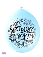 "Balloons 'BIRTHDAY BOY' 9"" Latex Balloons Blue (10)"