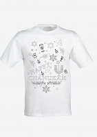 Colour Yourself Happy Chanukah T-Shirt -Childrens