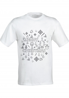 Colour Yourself Merry Christmas T-Shirt -Adult