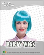 Bob Wig - Neon Turquoise