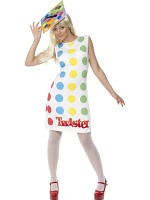 Female Twister Costume, Multi-Coloured With Dress And Hat