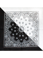 Two-Tone Black and White Bandana