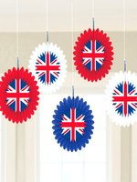 Union Jack Hanging Fan Decoration