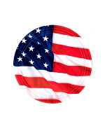 USA Flag Plates