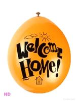 "'WELCOME HOME' 9"" Latex Balloons (10)"
