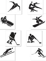 Winter Sports Cutouts