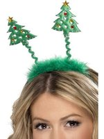 Christmas Tree Headbopper with Fur Trim