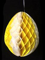 Yellow & White Tissue Egg Decoration